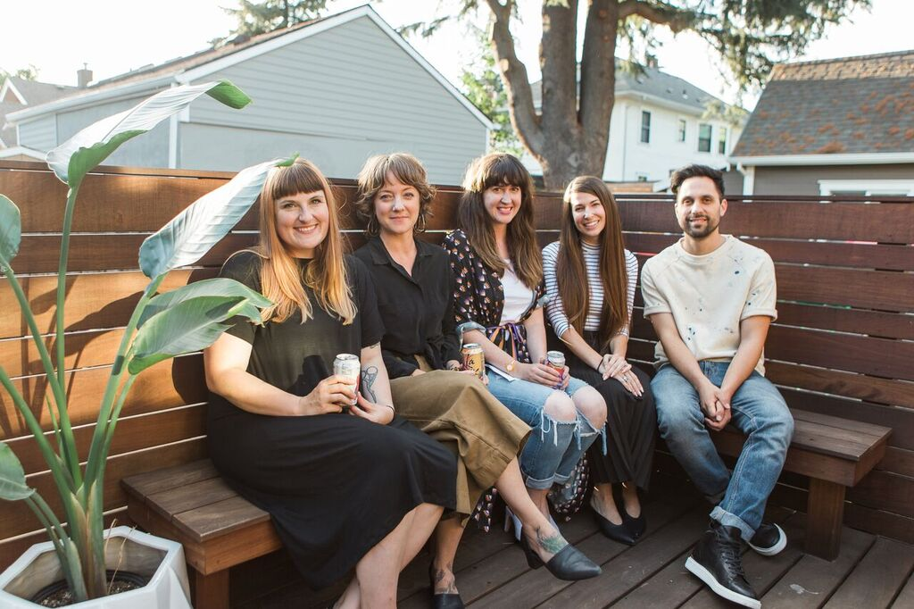 Pictured (left to right)Cassie Morgan of  Altar ,Marisa Howard of  Seaworthy ,Sarah Donofrio of  One Imaginary Girl ,Andrea Moore Beaulieu of  Moore Custom Goods  and Jason Calderon of  West Daily .  Photography by  Candace Molatore