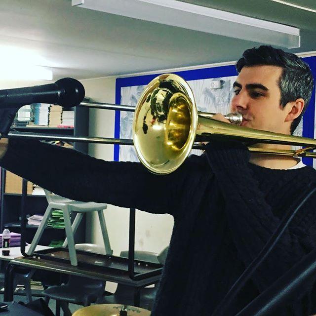 Just a Sam blowing his bone . . #Weknowjohn #poppunk #ukpoppunk #punkrock #poppunksnotdead #punk #band #bandlife #band #trombones #trombonesolo #trombone #tromboner