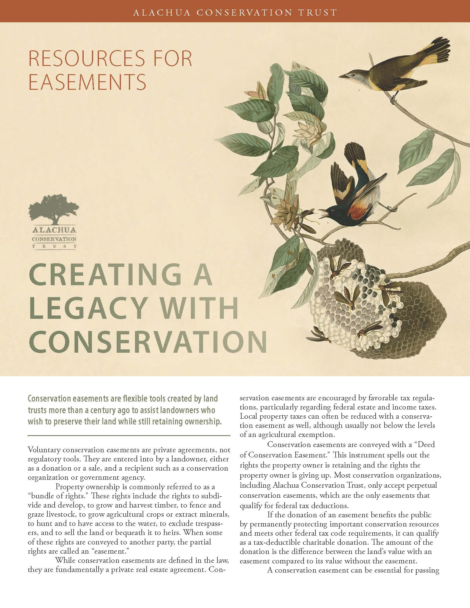 Creating a Legacy with Conservation