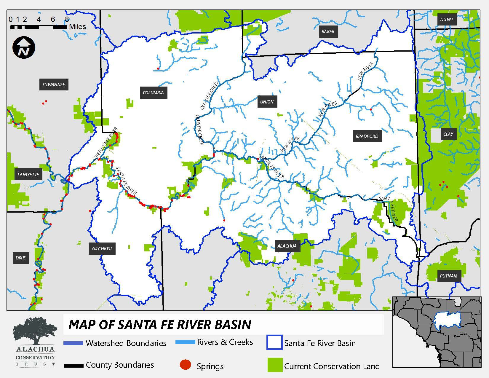 Click here to see the Santa Fe River Basin Boundary