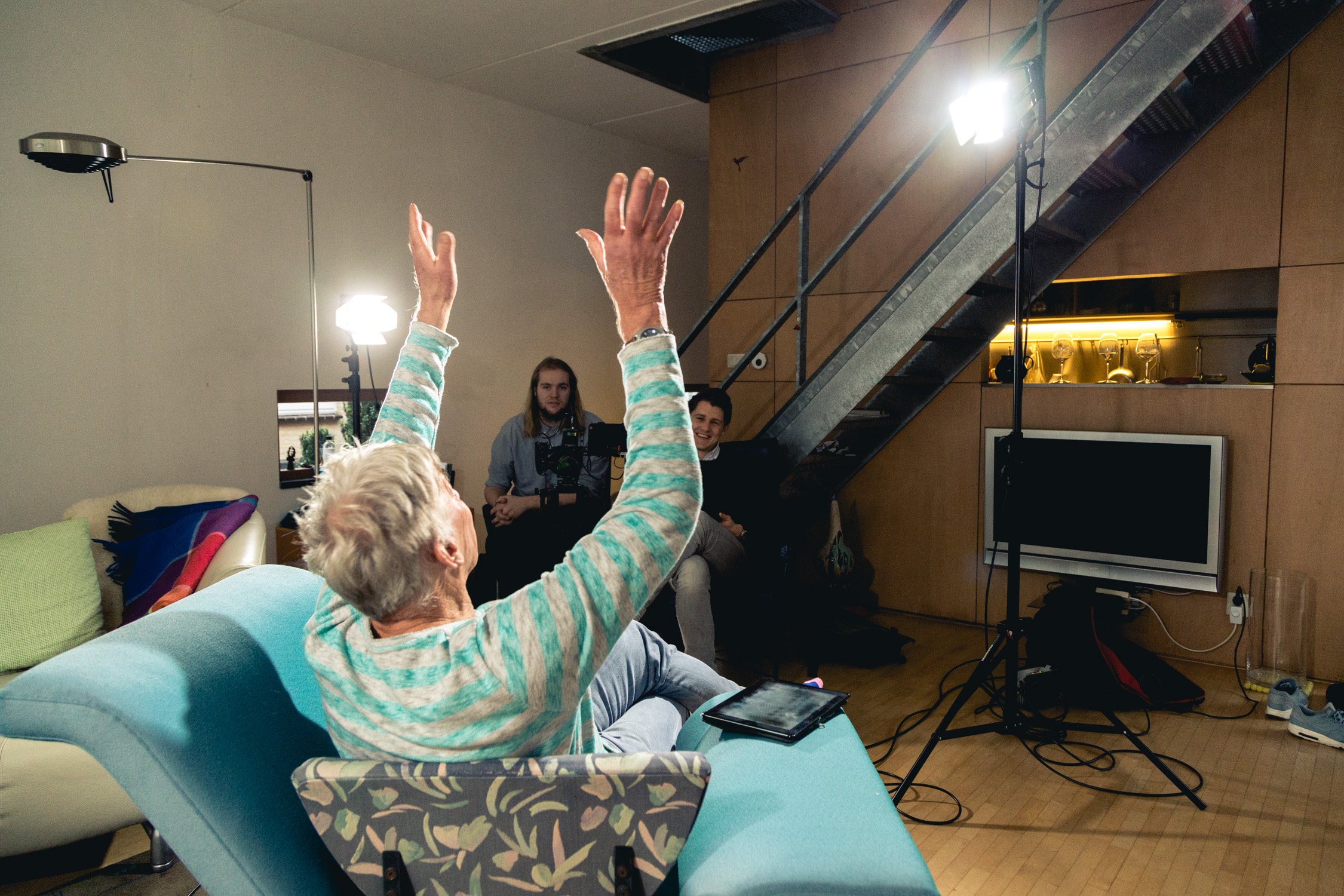 Behind the scenes of Deloitte TMT shoot