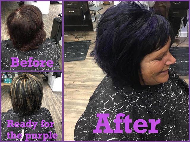 #beforeandafter #purplehair #haircolor