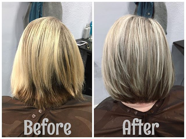 #blondehair #highlights #lowlights #haircolor #beforeandafter