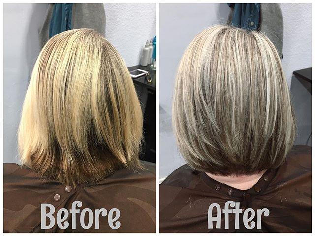 #blondehair #highlights #lowlights #haircolor #beforeandafter