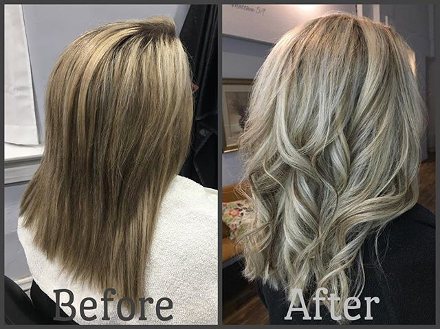 #haircolor #beforeandafter #blondehair #curls