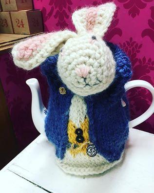 Alice in Wonderland inspired Tea cosy for Whittards of Chelsea.