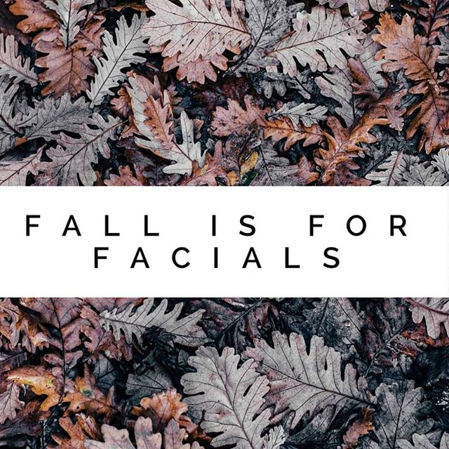 We have openings all week for facials :)
