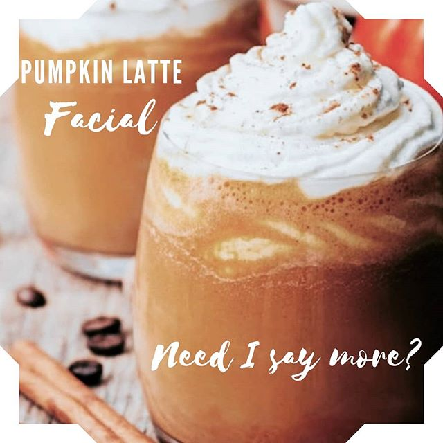 Anna has a few appointments available for Thurs, Fri, Sat. Call to schedule this yummy facial with her! 🎃🍁🍂 Pumpkin Latte Facial!🍂🍁🎃 This spicy enzyme will nourish the skin with antioxidants as it's packed with Vitamins A and C. The 15% Pumpkin-Orange will exfoliate and reduce oil while you enjoy the wonderful smell of pumpkin and orange. Mixed Goji Berry Yogurt Mask if you have sensitive skin! #fallfacials #fallspecials #facials #esthetician #estylife #esthetics #pumpkin🎃 #pumpkinspice #microdermabrasion #ledlighttherapy