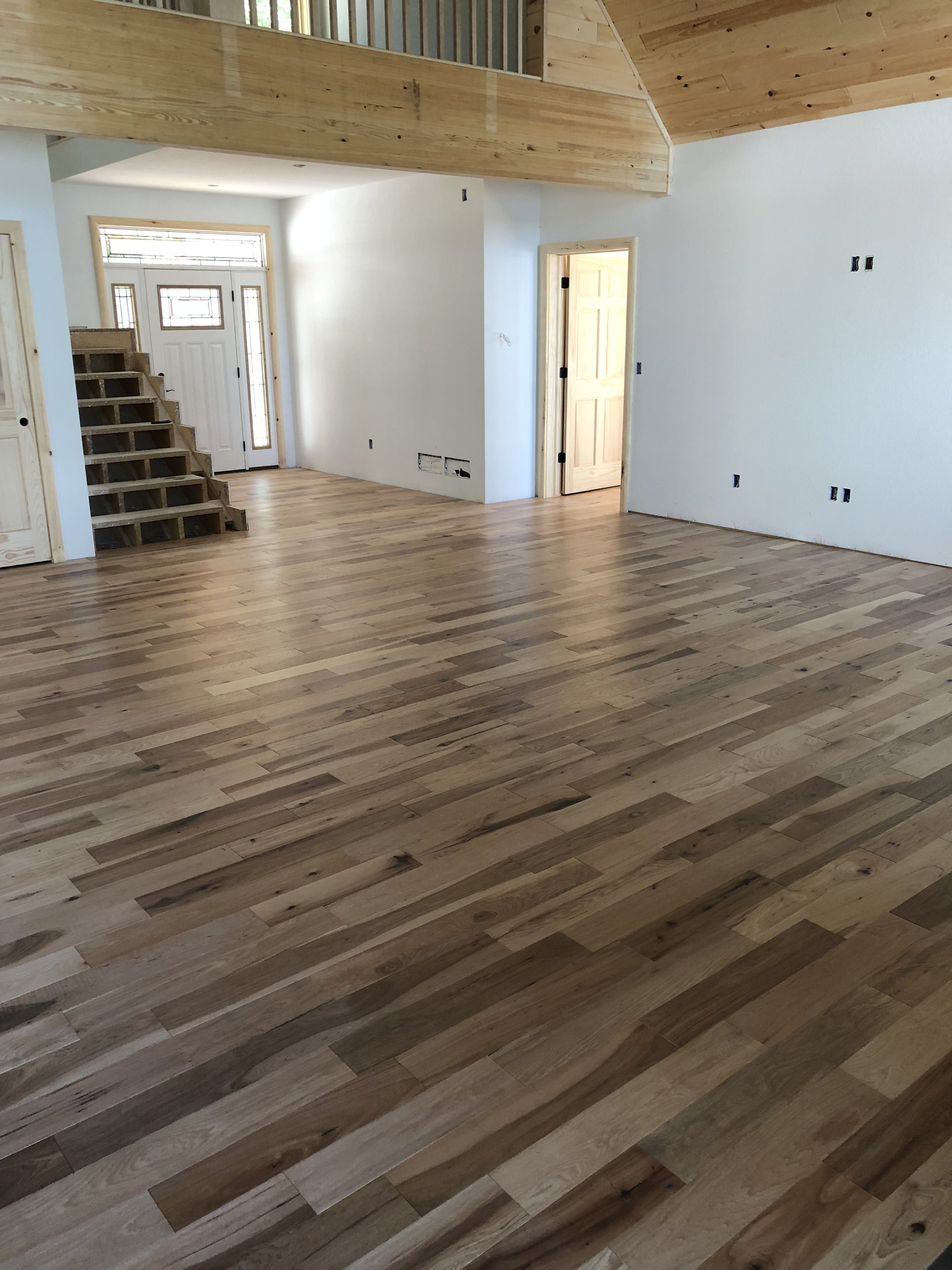 Gorgeous hardwood throughout the main living space