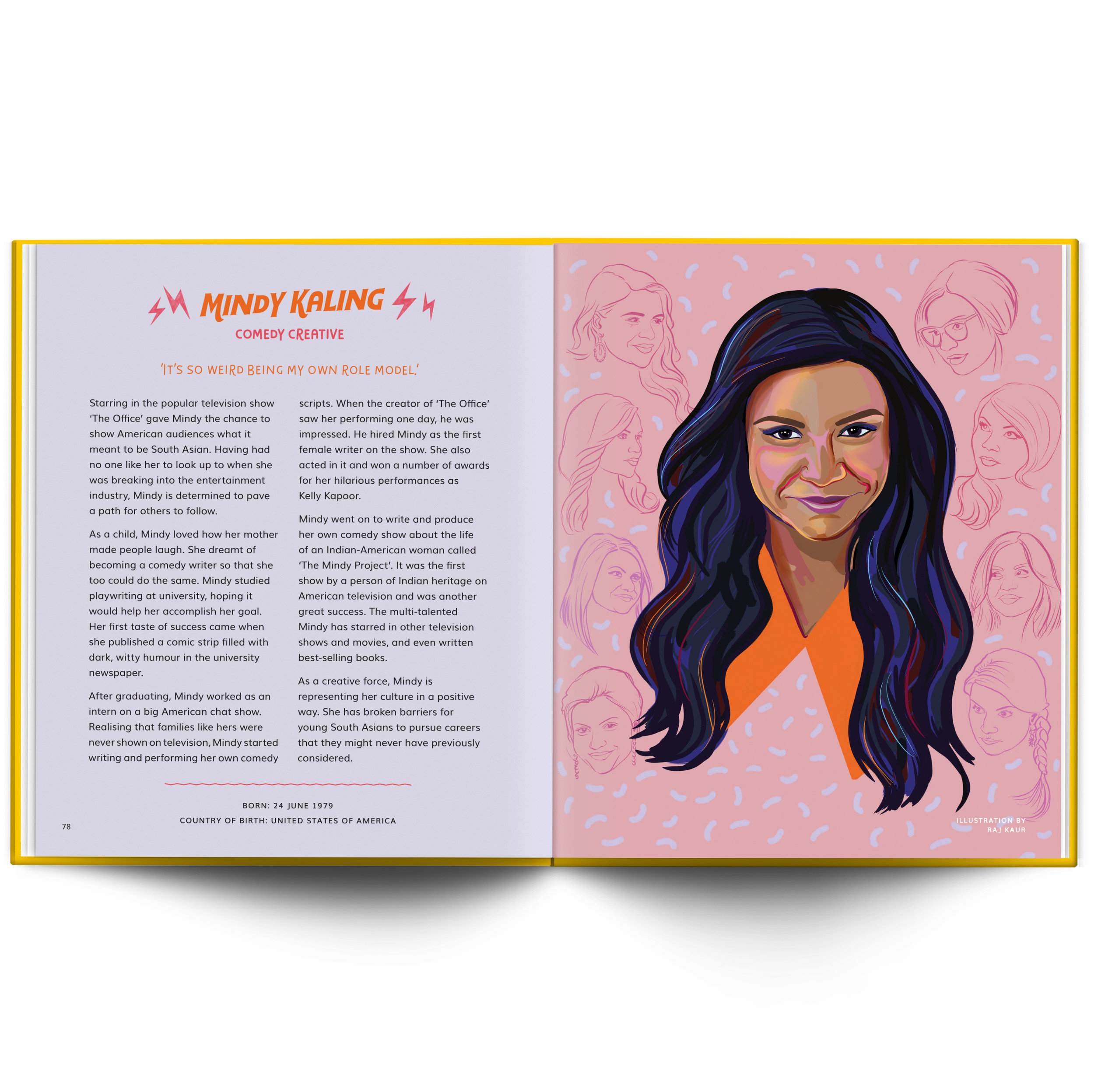 My illustration of Mindy Kaling