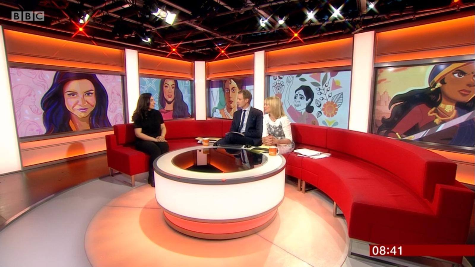 Raj Kaur Khaira on the BBC Breakfast Show, speaking about the book.