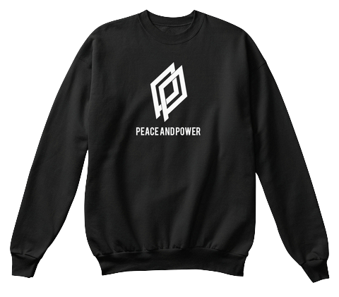 $35.00 - The Peace and Power Crewneck - Black