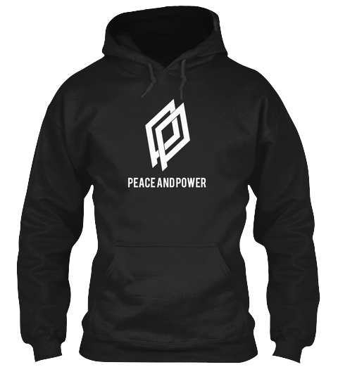 $45.00 - The Peace and Power Hoody - Black