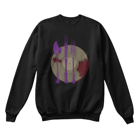 """Let's Eat"" - $40.00 - Black Crewneck"