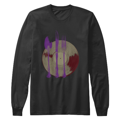 """Let's Eat"" - $35.00 - Black Long Sleeve T-Shirt"