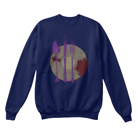 """Let's Eat"" - $40.00 - Navy Blue Crewneck"