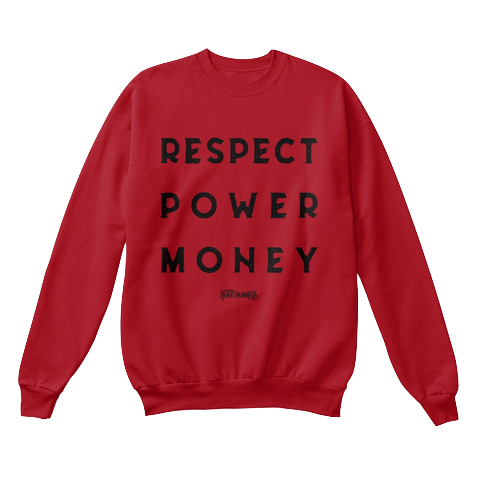 """RPM"" - $40.00 - Raspberry Crewneck"