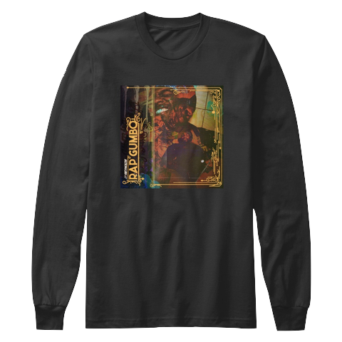 """Rap Gumbo Cover"" - $35.00 - Black Long Sleeve T-Shirt"