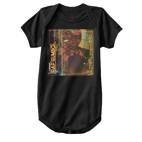 """Rap Gumbo Cover"" - $20.00 - Black Baby Onesie"
