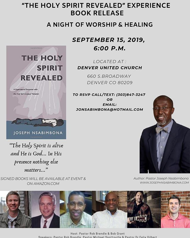 A Night of Worship & Healing / A Book Release Event  4 Churches Involved  Free Coffee, Beverages & Pastries RSVP Encouraged Limited number of books in the lobby
