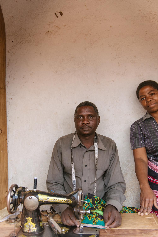 Prince and Patricia Kawnde, of Kawande Tailor