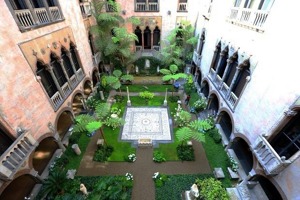 Courtyard of the Isabella Stewart Gardner Museum. Photo / GBCVB
