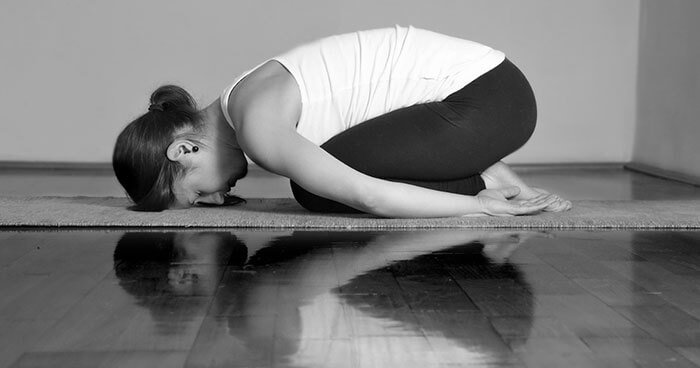 Child's pose is a deeply restful and relaxing pose.