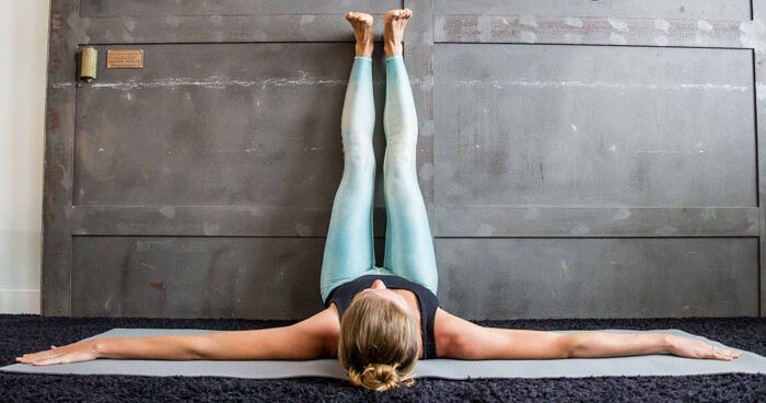 Legs up the wall pose is deeply restorative for the heart, mind and lymphatic system.