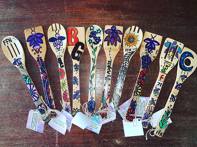 "🎉 GIVEAWAY TIME 🎉 Will you be joining us this Friday on Church Street from 6-10pm for Firefly Nights? We certainly hope so! 🤗 To get excited for the week we are giving away FIVE of these hand made, Firefly Night themed, Kitchen Spoon Sets! 🎉  Here's what you need to do.... 1️⃣ Be following Firefly Nights here on Instagram. 2️⃣ Go follow us on our new Snapchat. Search for ""fireflynightsbg."" ✨ That's it! 🙌🏻 Giveaway starts today, Tuesday August 13th and winners will be announced Thursday August 15th."