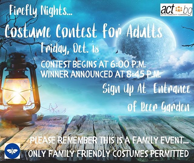 Active Community Teamwork here in Bowling Green is hosting a costume contest at our October Festival!  Check the details above and make sure to stop by our Beer Garden to enter!  We can't wait to see your creative ideas! Tag friends who might want to get spooky with you below 👇🏼