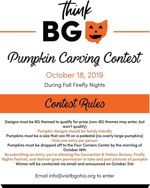 Be sure to head over to the courtyard area at the Four Corners Center to partake in this Pumpkin Carving Contest sponsored by CCVB. 🎃 You could win a prize of a BG Bundle and Downtown Dollars! 🎃 So fun! Who's excited that October's festival is ONE WEEK AWAY?! 🙋🏼‍♀️