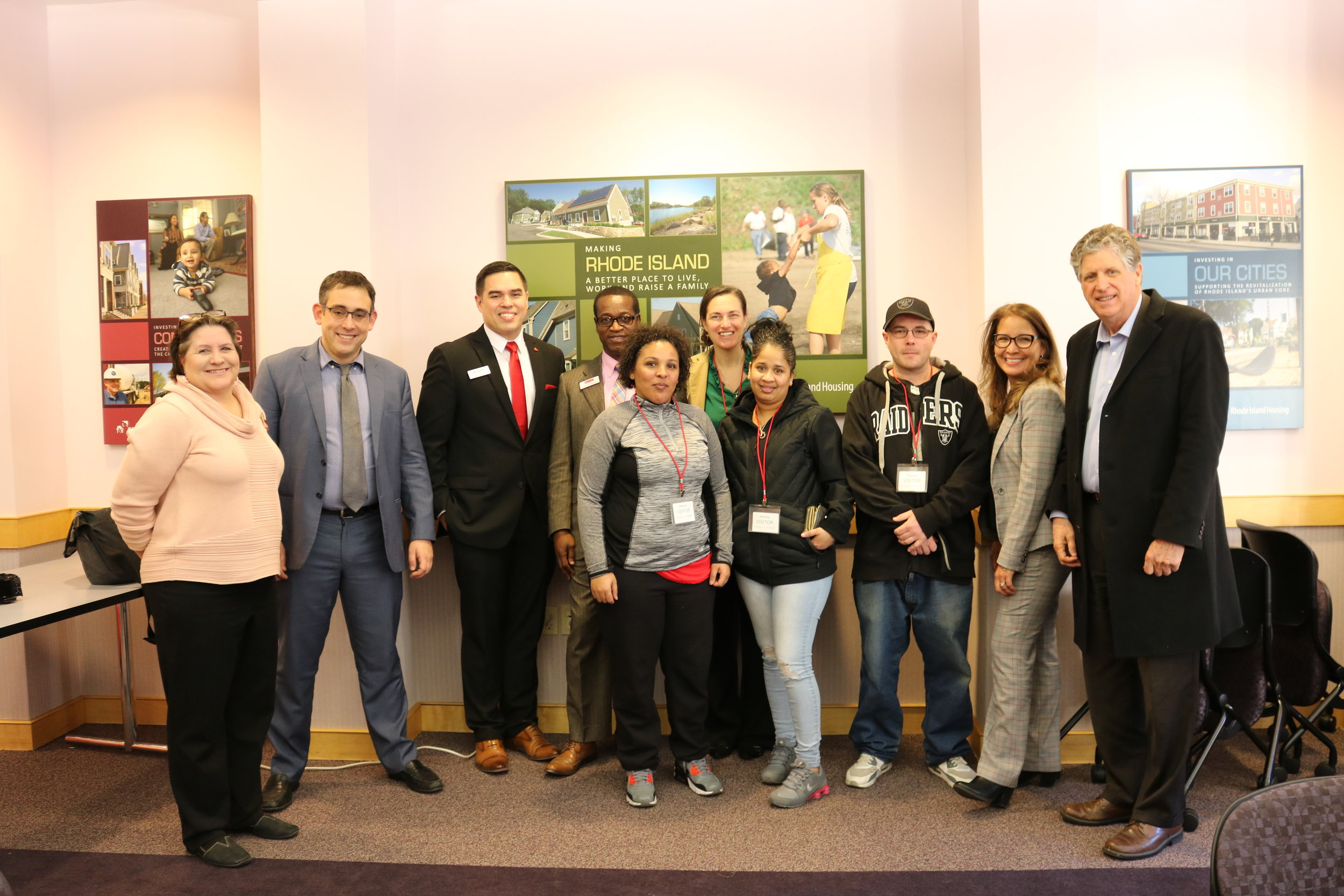 Our first deployment of 2019!! RI Housing residents received T-Mobile tablets with two years of internet access thanks to a grant from Santander Bank. Lt. Gov. Dan McGee stopped by at the training and deployment event. Residents and the Lt. Governor gathered with representatives from HUD, RI Housing, Santander Bank, and the Office of Innovation. Click on the picture to read all about it.