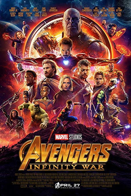 Best Visual Effects: Avengers: Infinity War - I feel that Aquaman was definitely snubbed from this category because the VFX work done for Aquaman is amazing and the fact that it wasn't even nominated is ridiculous. So since Aquaman can't be recognized, I think that the Oscar should go to Avengers: Infinity War, just based off the motion capture and VFX of Thanos alone.