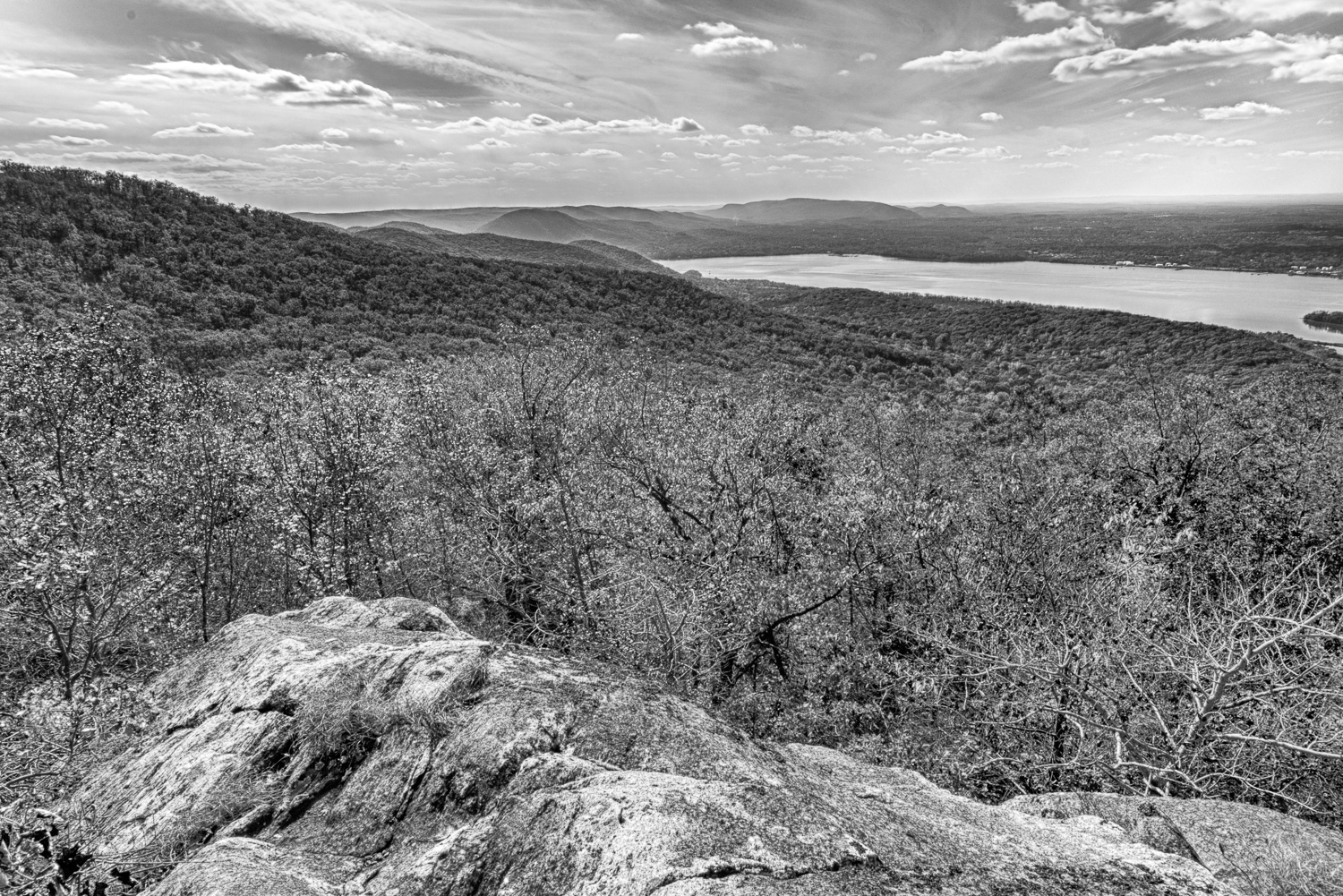 Mt. Beacon in Black and White