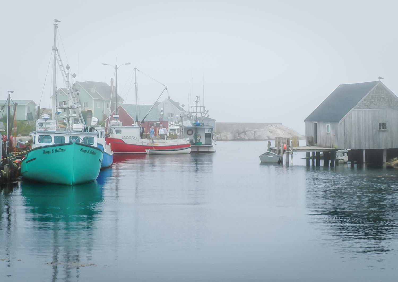 Foggy Port