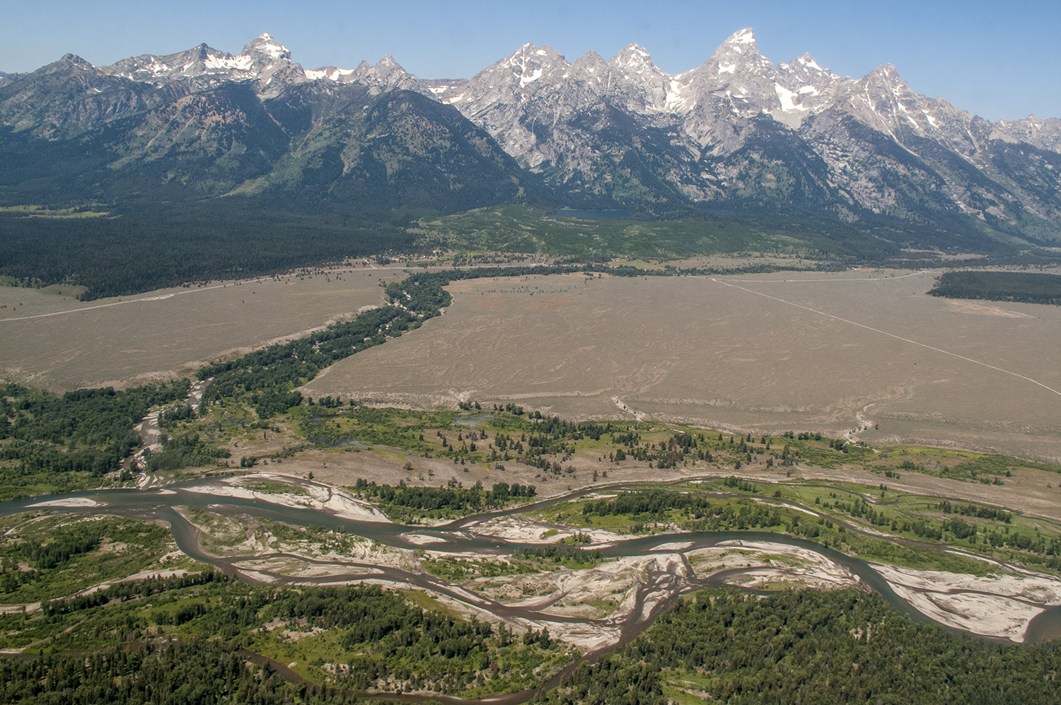 Flying over the Tetons