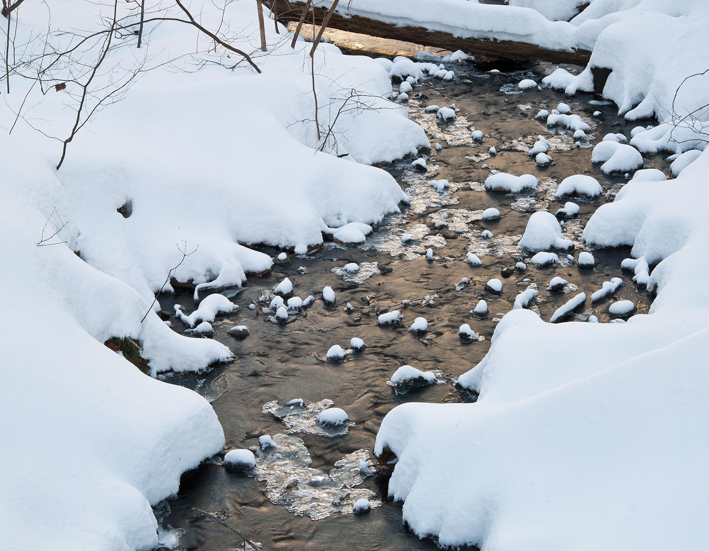 Recent Snowfall on Stream