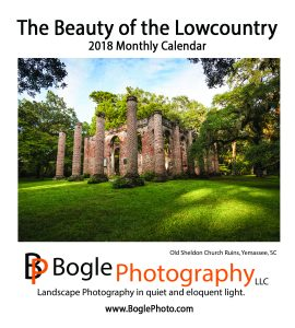 The Beauty of the Lowcountry Calendar Cover 2018