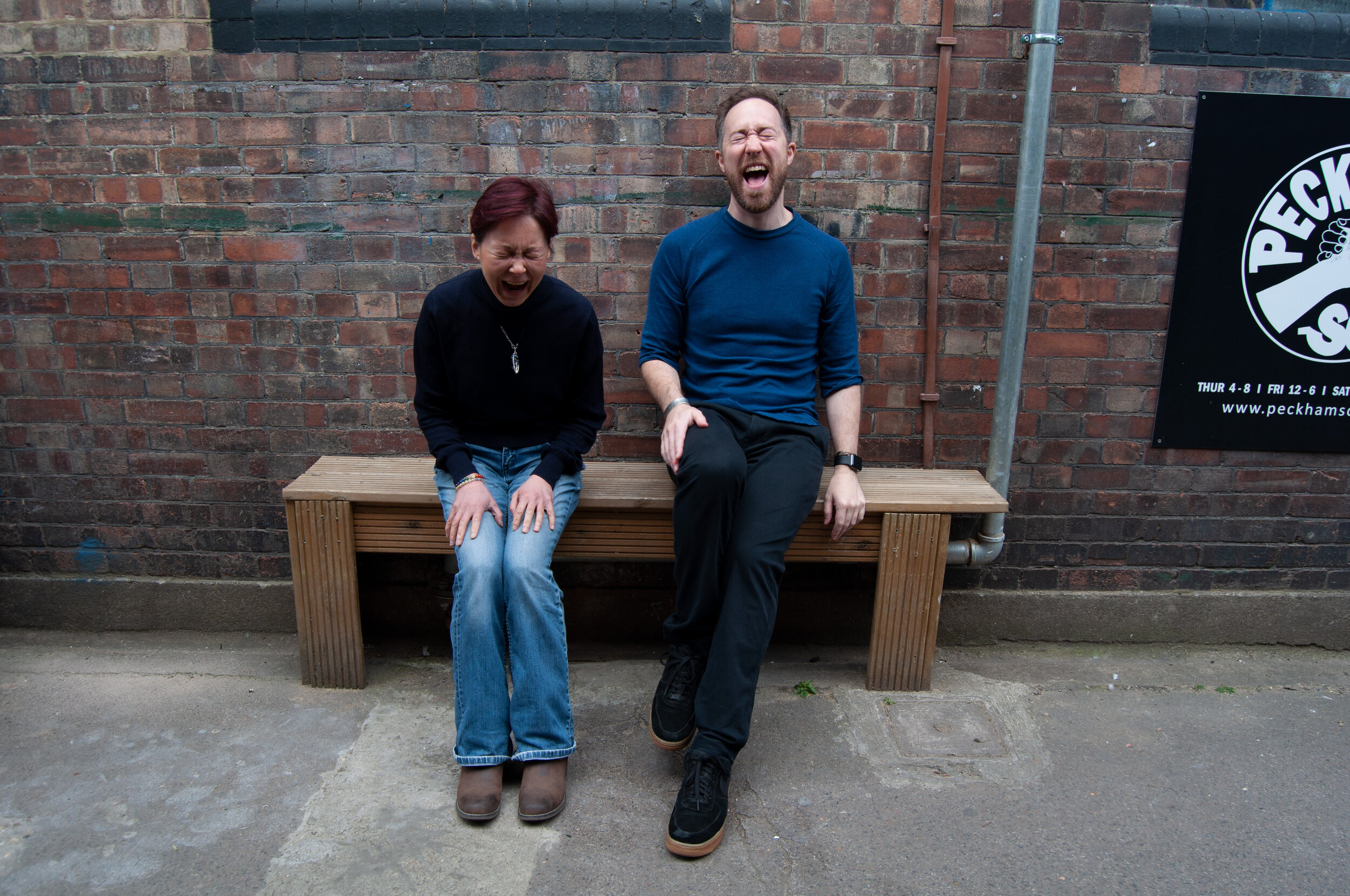 Steph Edwards (left) and Ryan Nell (right) in Peckham, June 2019