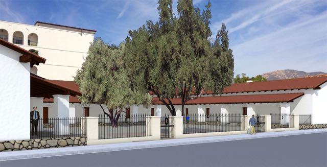 CASA DEL LA GUERRA - COURTYARD FENCE, ,SANTA BARBARA TRUST FOR HISTORIC PRESERVATION