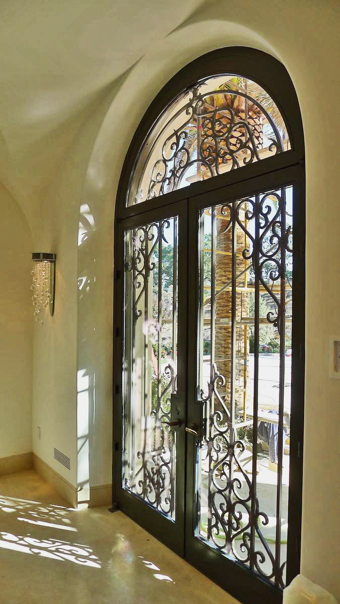 IRON AND GLASS ENTRY DOORS