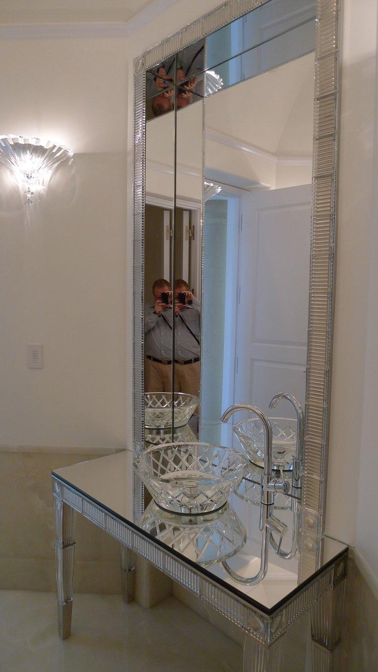 POWDER ROOM WITH BACCARAT CYSTAL