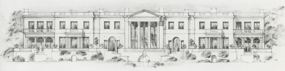 A Neo-classical Style Luxury Residence, partially Constructed, but altered, in Pasadena, California