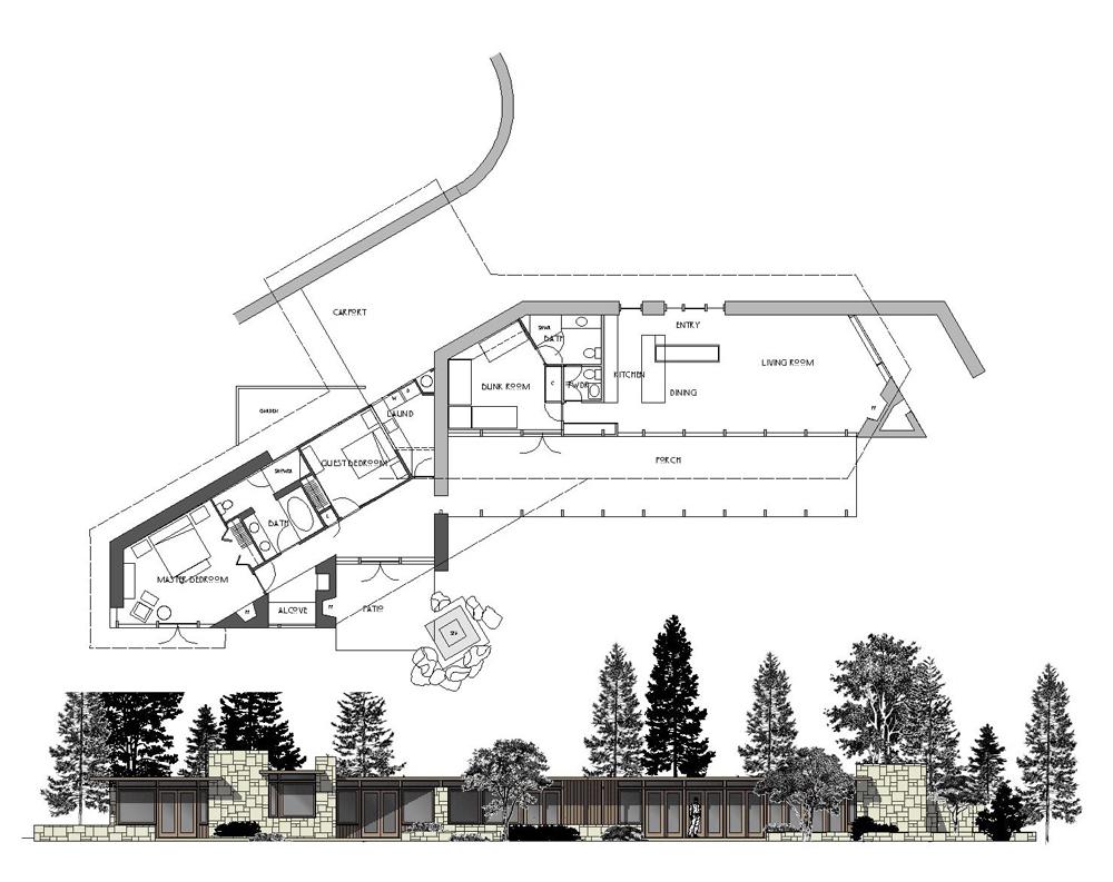 "An Addition to a Mid-Century Modern Style ""Cabin"", Carpinteria, California."