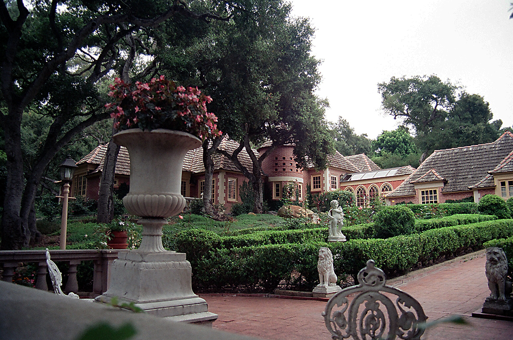 Addition (to the right) of a unique French Chateaux Style Home in Montecito, California