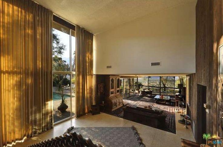 From the entry, Steve McQueen Residence, Rimrock, Palm Springs, Hugh Kaptur Architect