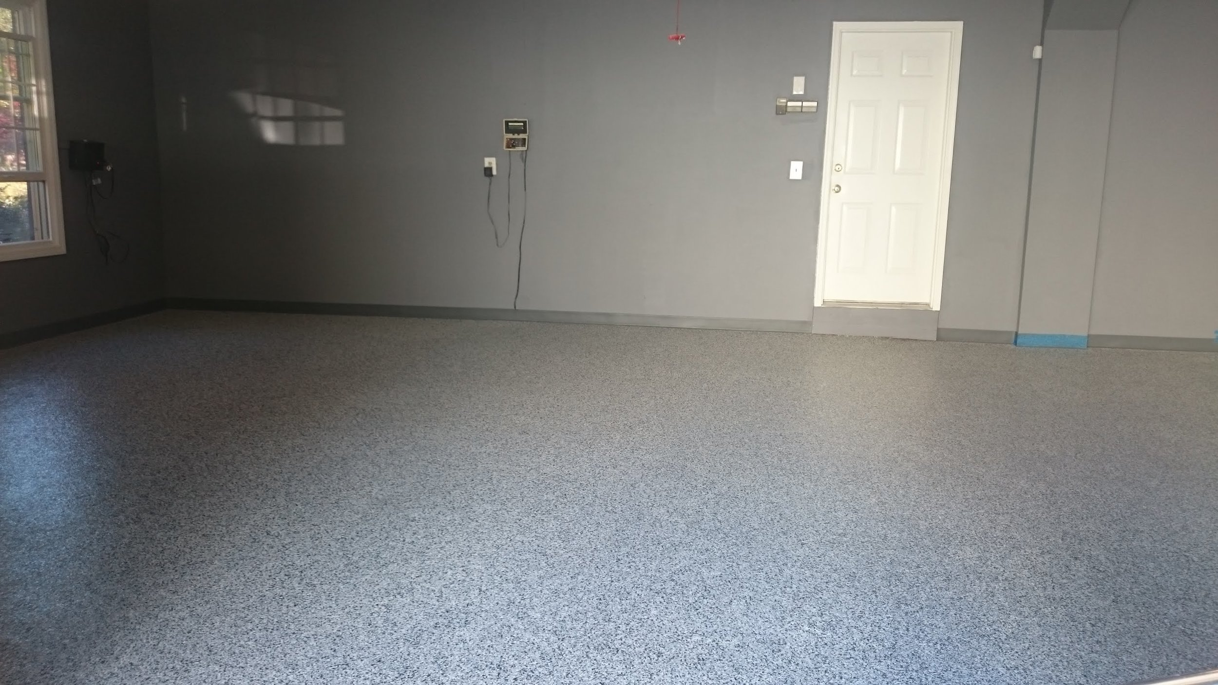 Commercial industrial concrete floor polyurea / epoxy coating example
