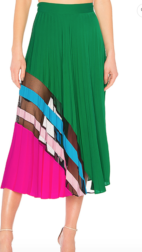 Milly Pleated Maxi Skirt $595