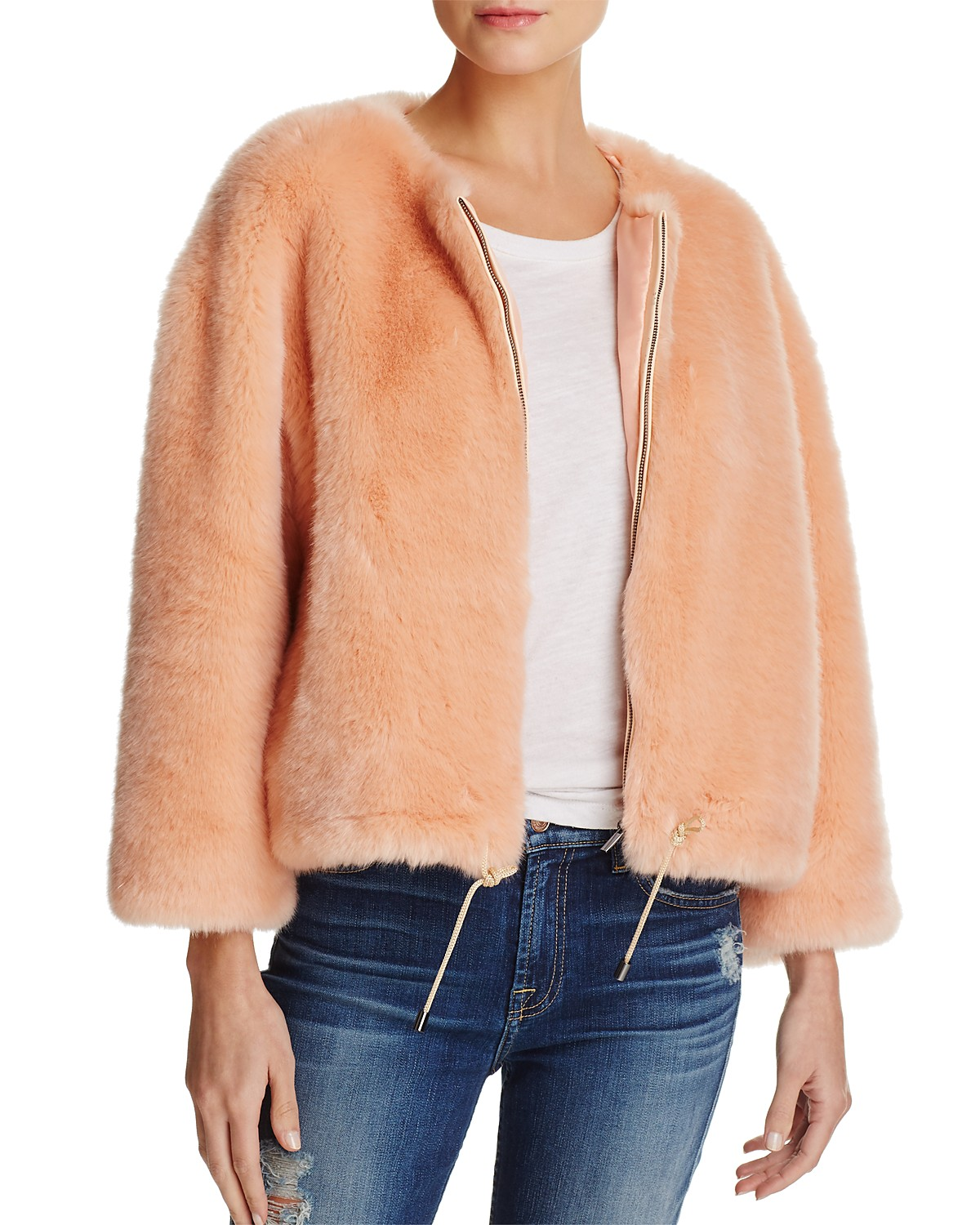 FRENCH CONNECTION Leonie Faux-Fur Drawstring Jacket (orig. $228) NOW $68.40