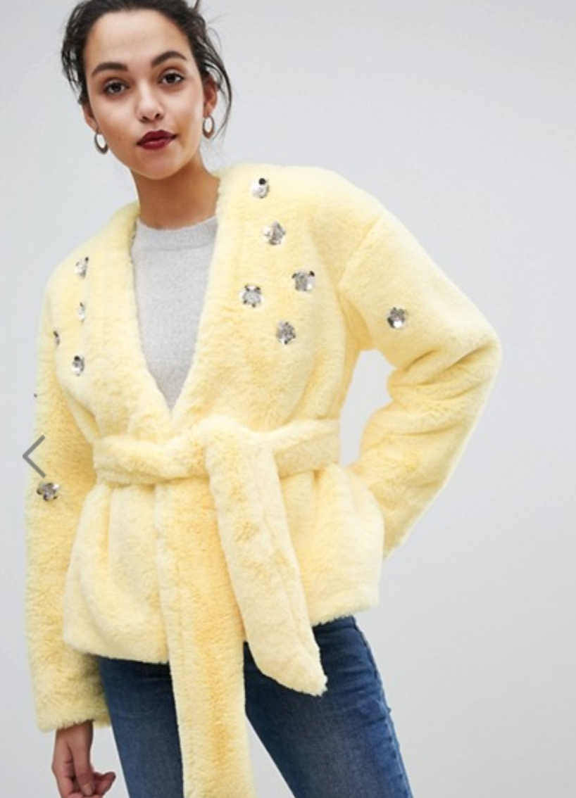 ASOS Faux Fur Jacket $103.00